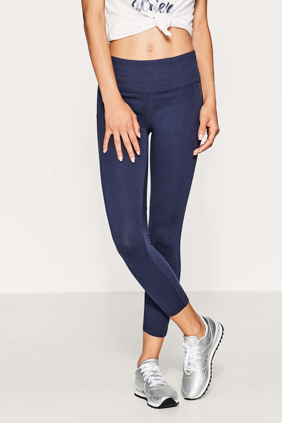 Esprit - 7/8 leggings with a wide waistband