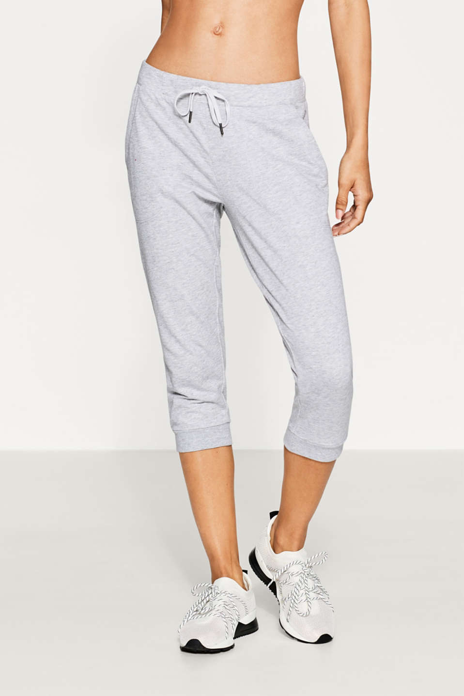 Esprit - Melange cotton blend tracksuit bottoms