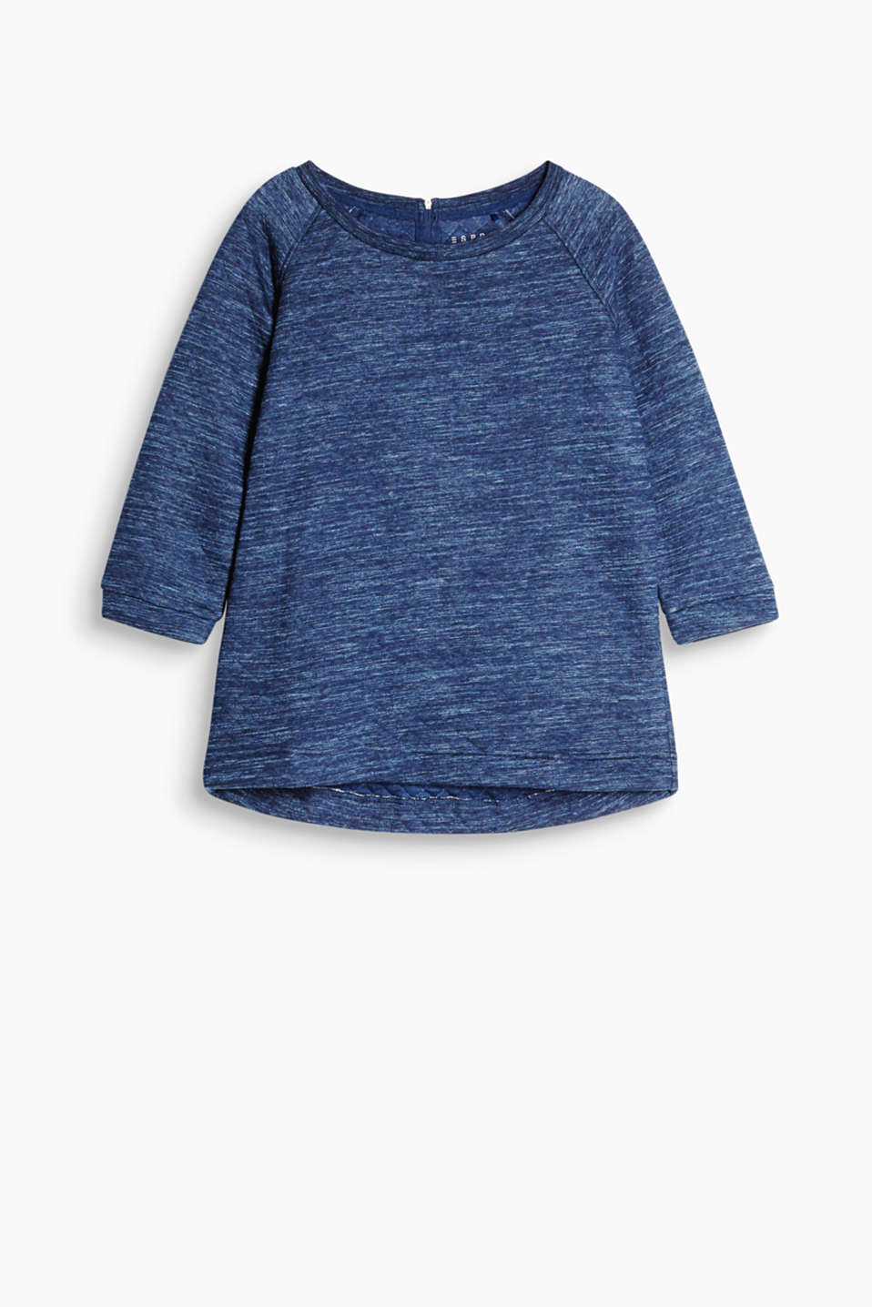 Sweatshirt in soft blended cotton with 3/4-length raglan sleeves and a rounded hem
