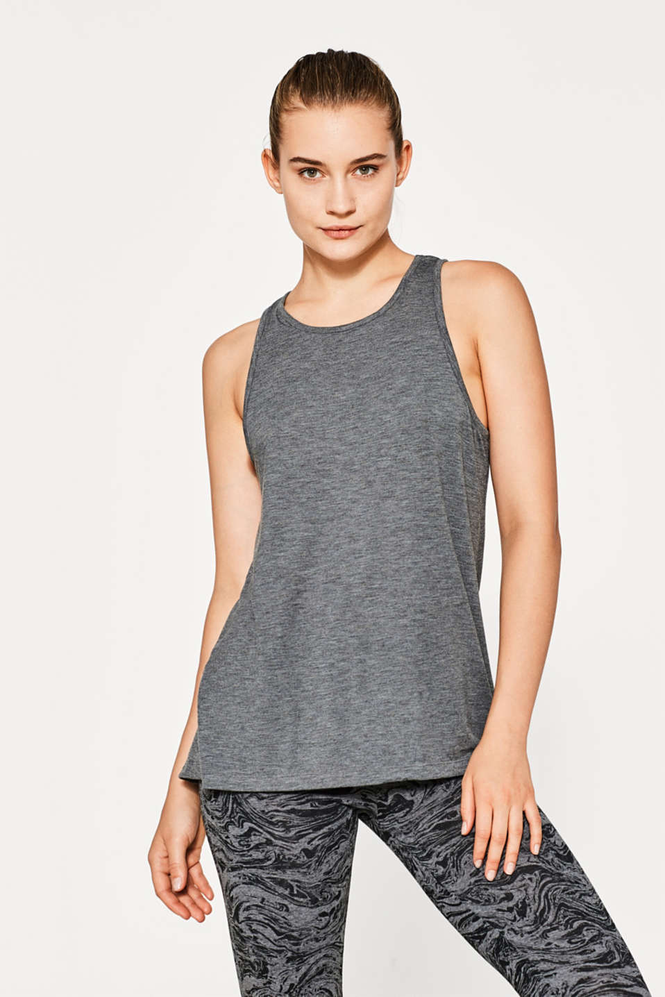 Esprit - A-line top with a charming back section