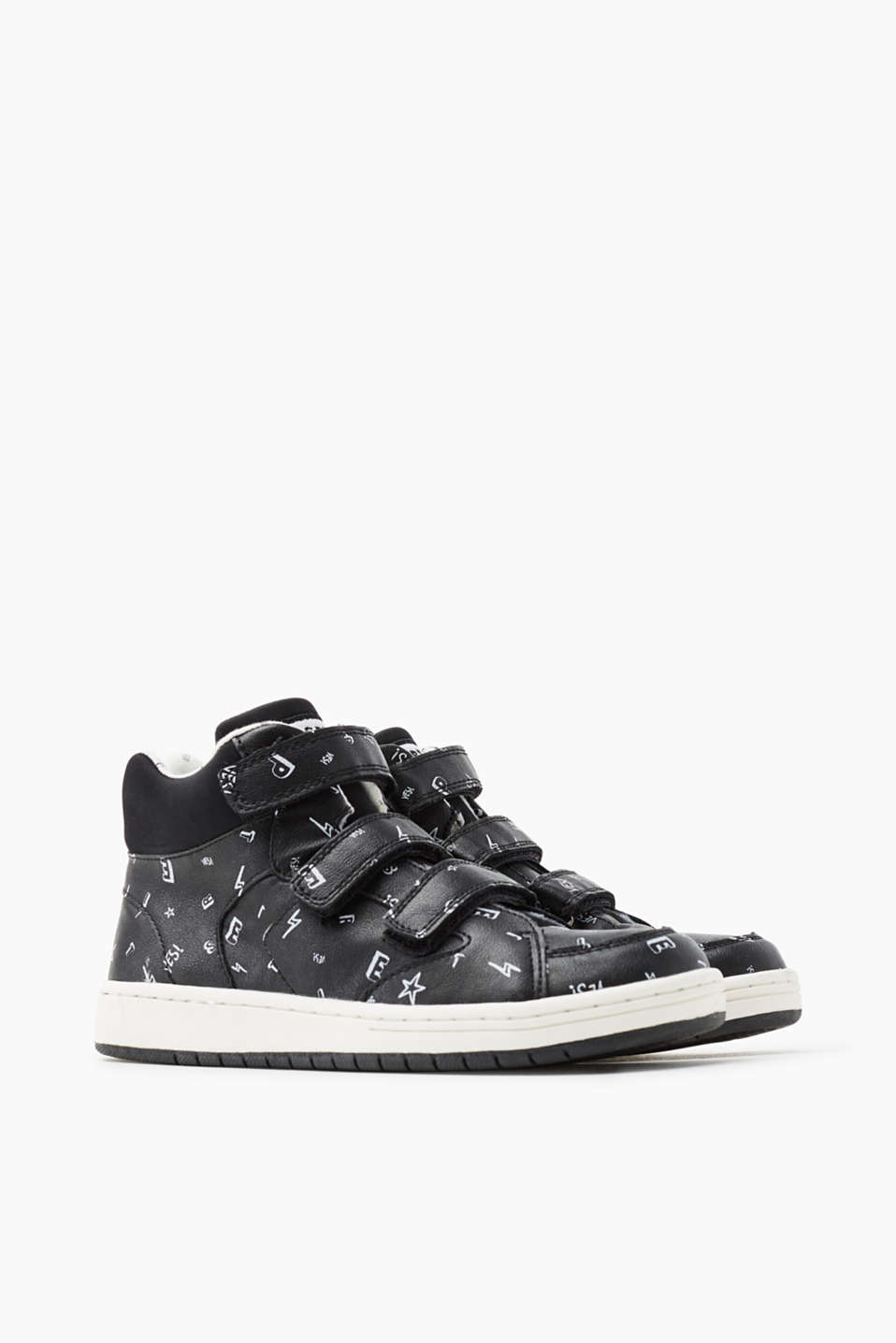 High Top-Sneaker in Leder-Optik