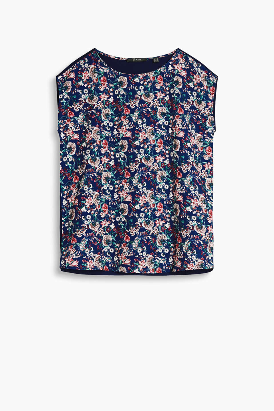 Feminine blouse top in an airy material mix with a floral print