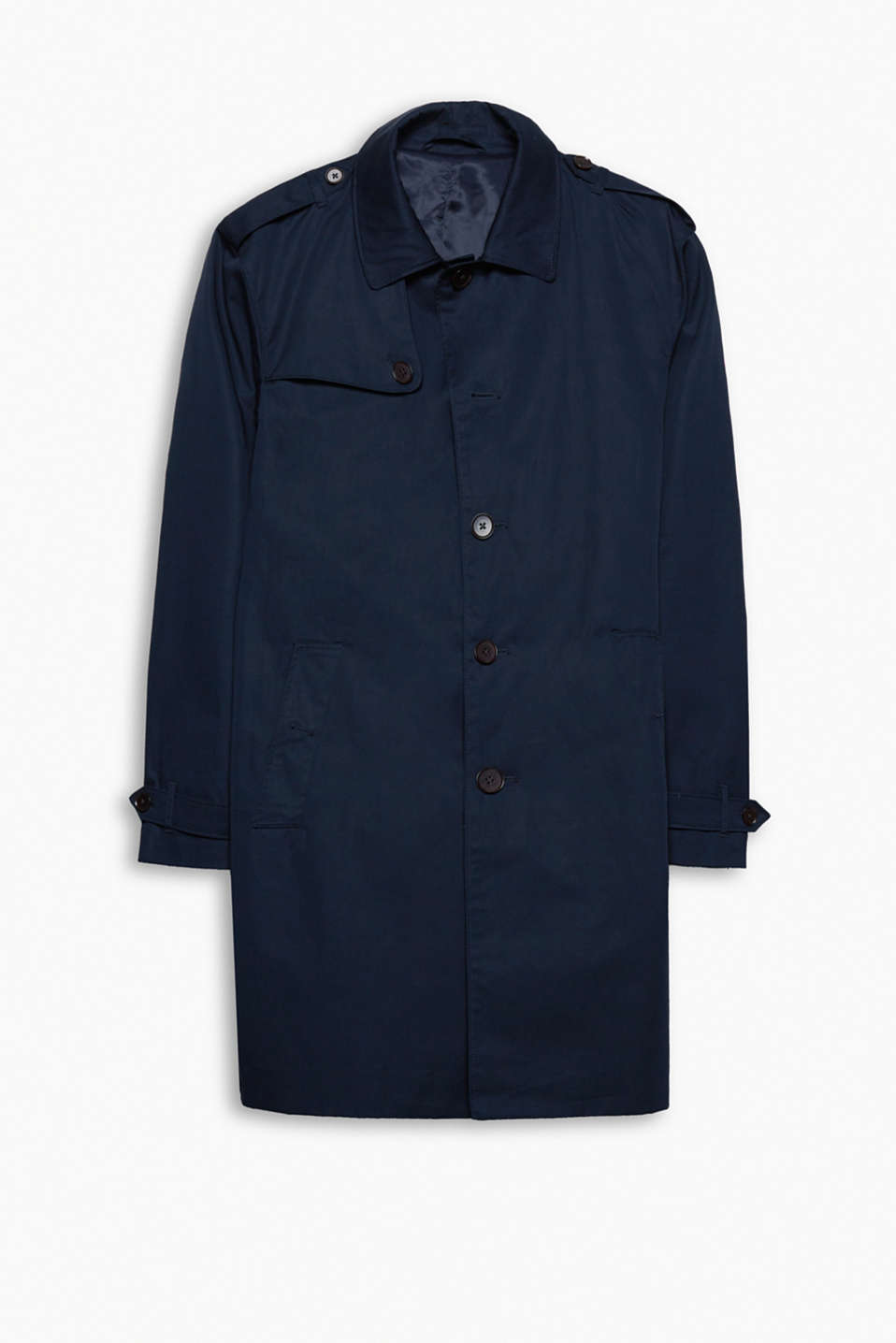 """The Wardrobe"": this classic trench coat in high-quality cotton is your perfect companion for many months of the year!"