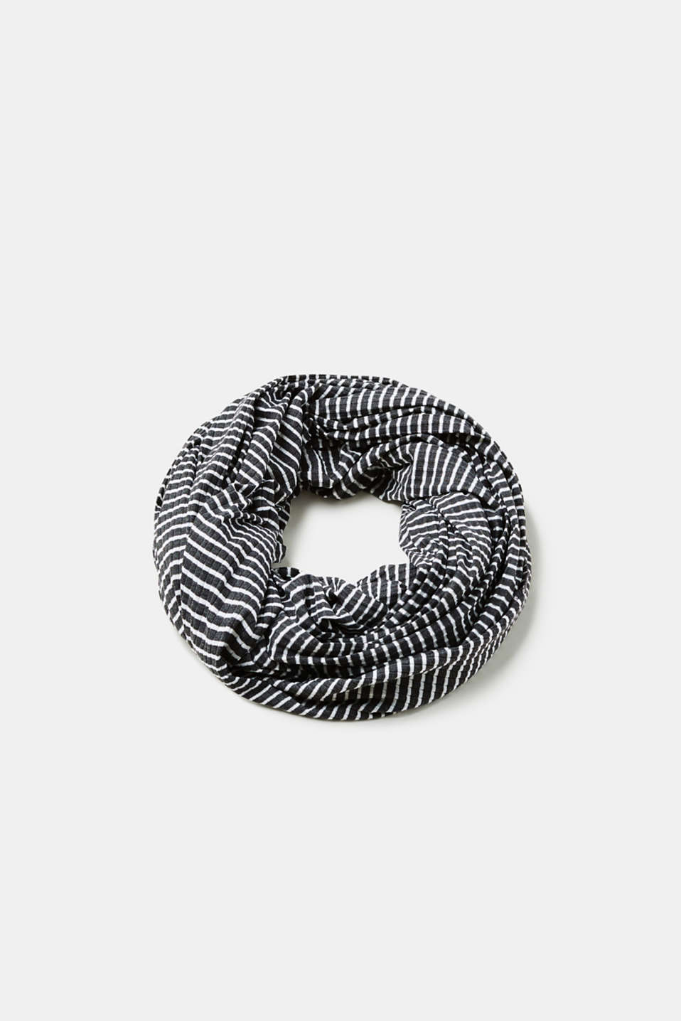 edc - Striped snood in ribbed jersey
