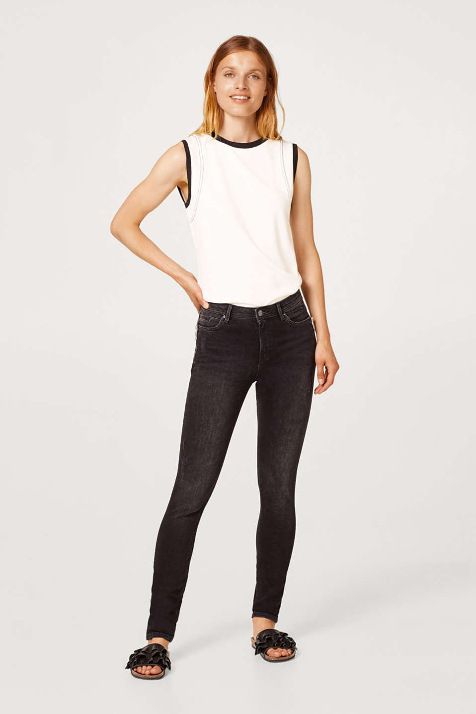 edc - Stretch jeans with zips