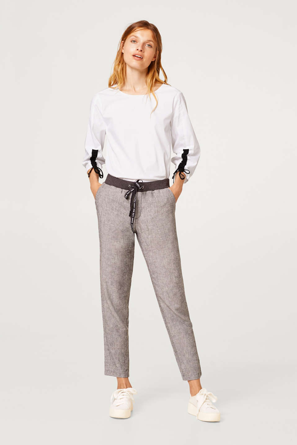 edc - Melange tracksuit bottoms with linen