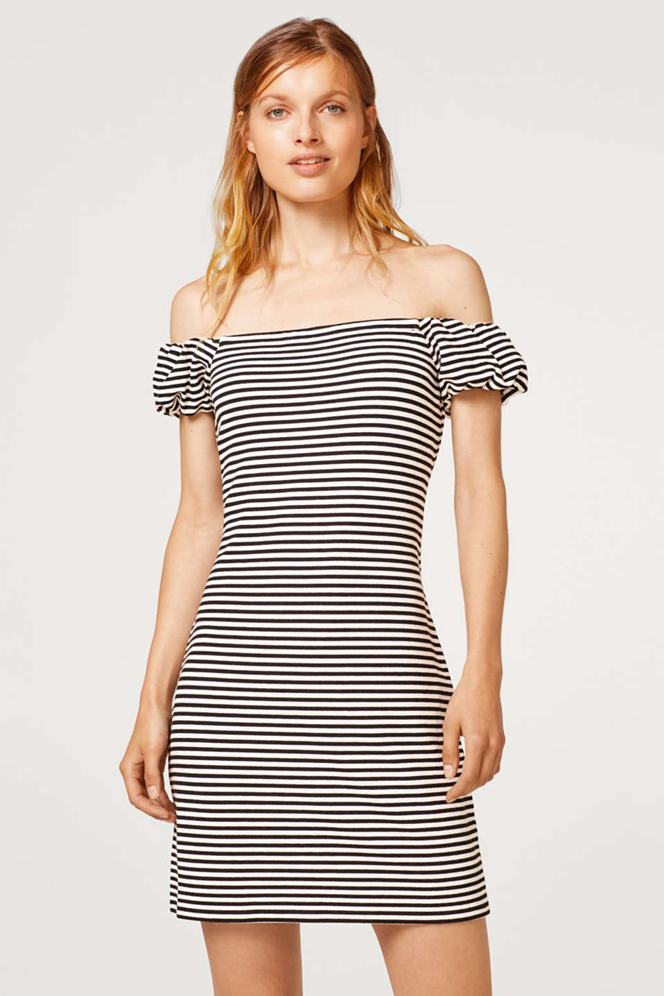 edc - Off-the-shoulder dress in stretch jersey