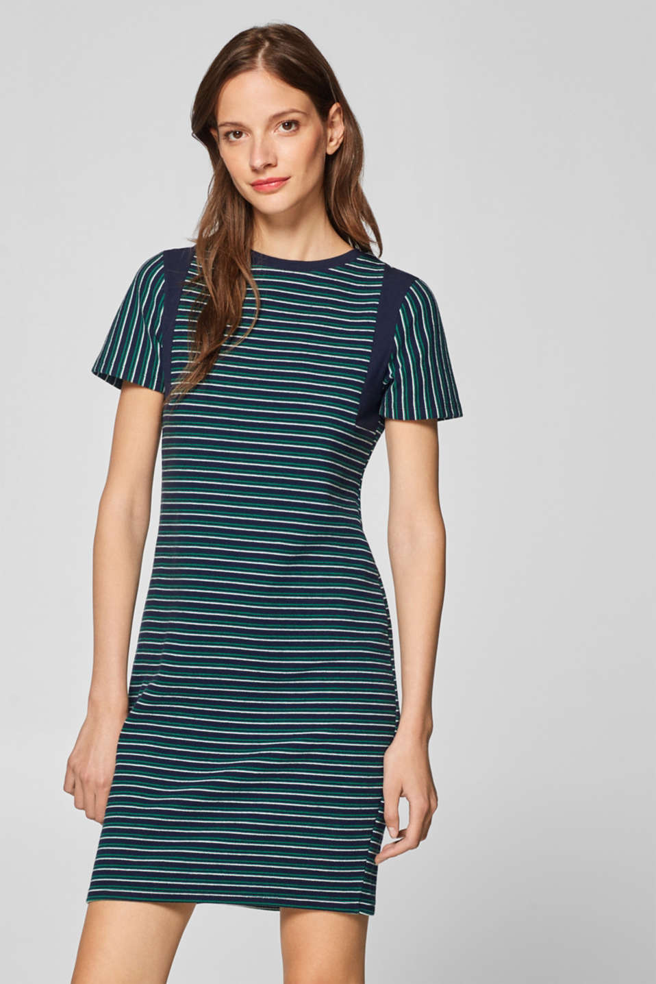 edc - Striped t-shirt dress in jersey