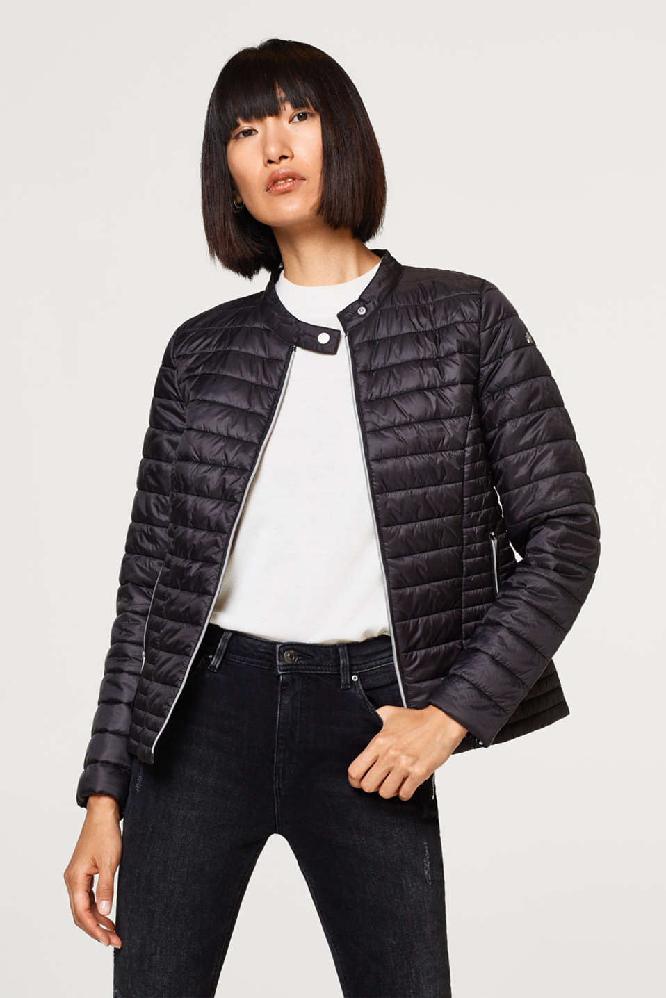 edc - Lightweight quilted jacket in a biker style