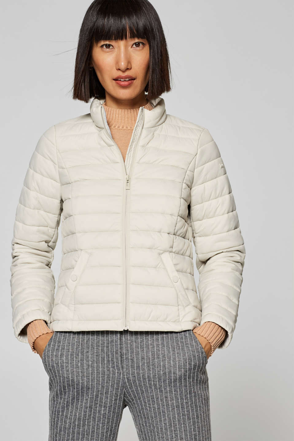edc - Lightweight quilted jacket with bomber details