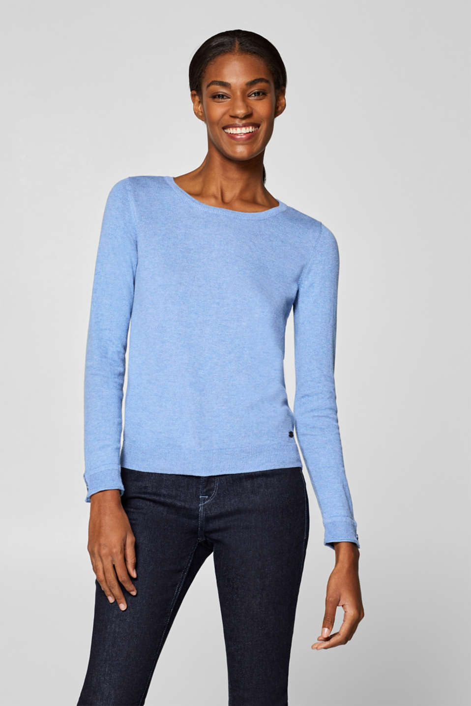 edc - Basic jumper with organic cotton