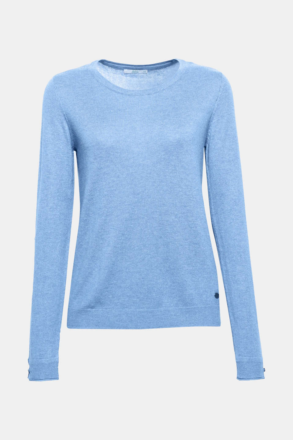 This cool, crew neck jumper containing environmentally-friendly, premium organic cotton is an indispensable basic.