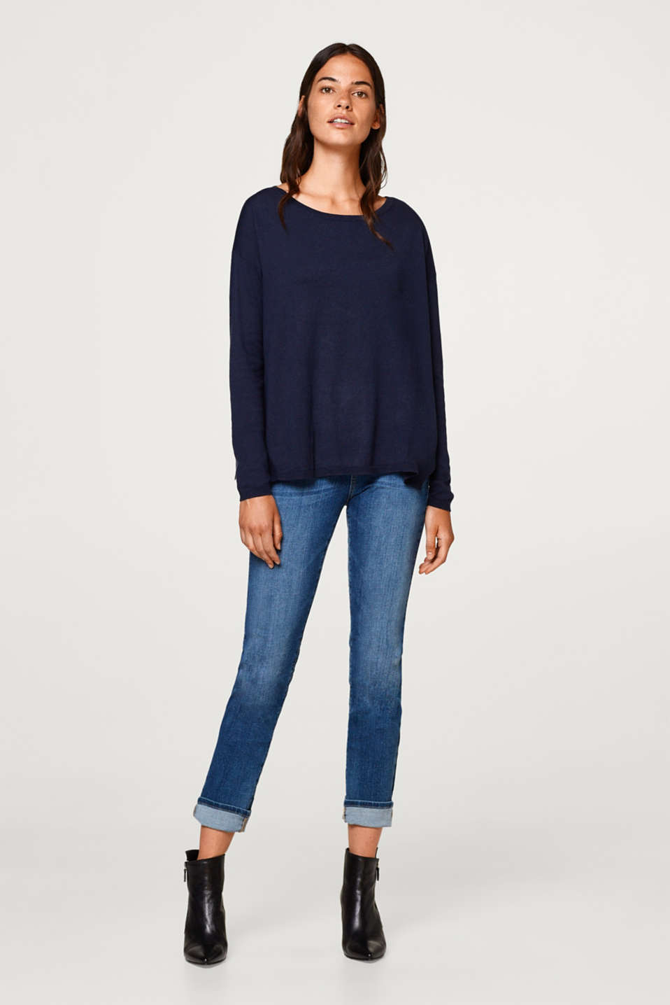 Casual jumper with organic cotton