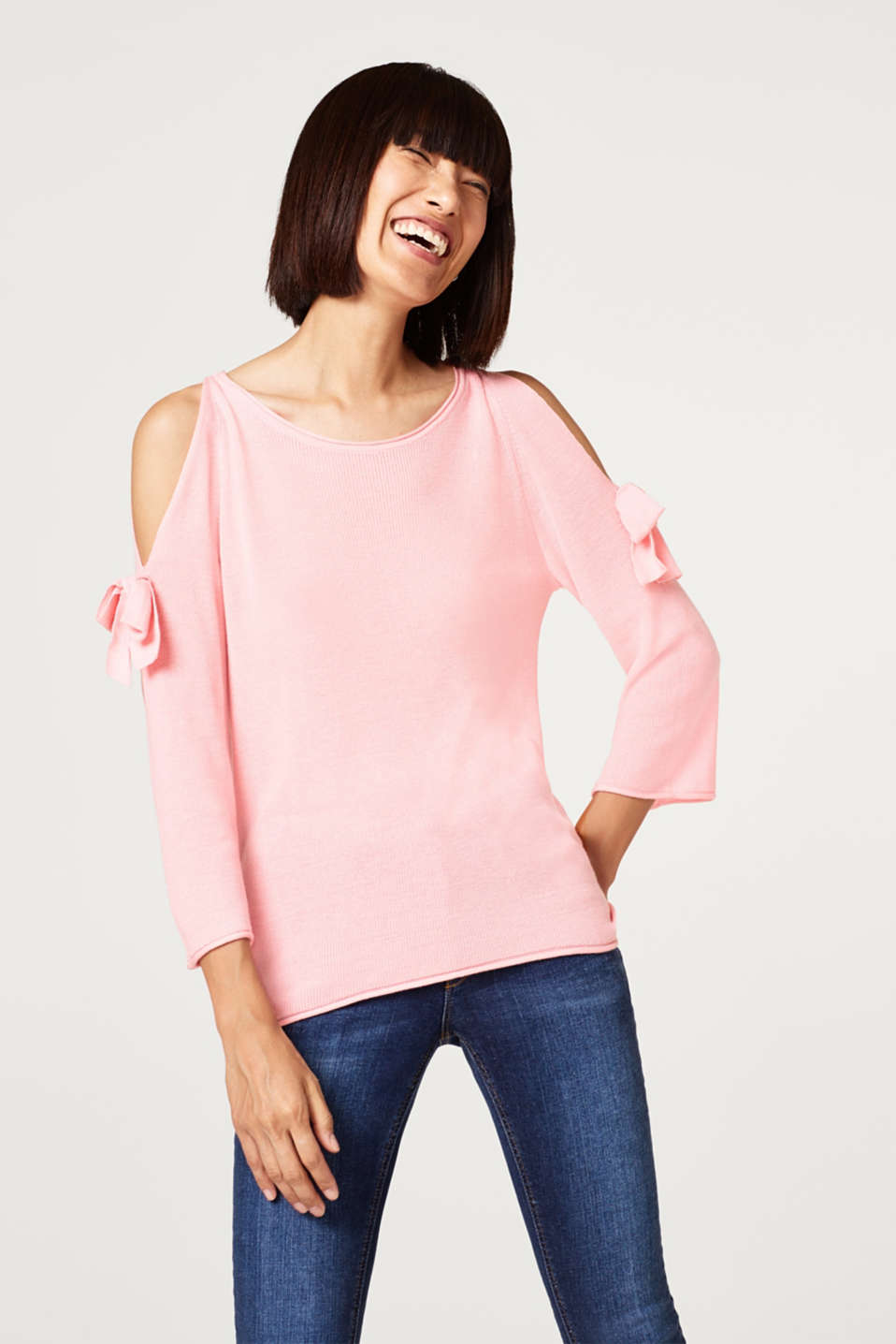 edc - Jumper with embellished cut-out sleeves