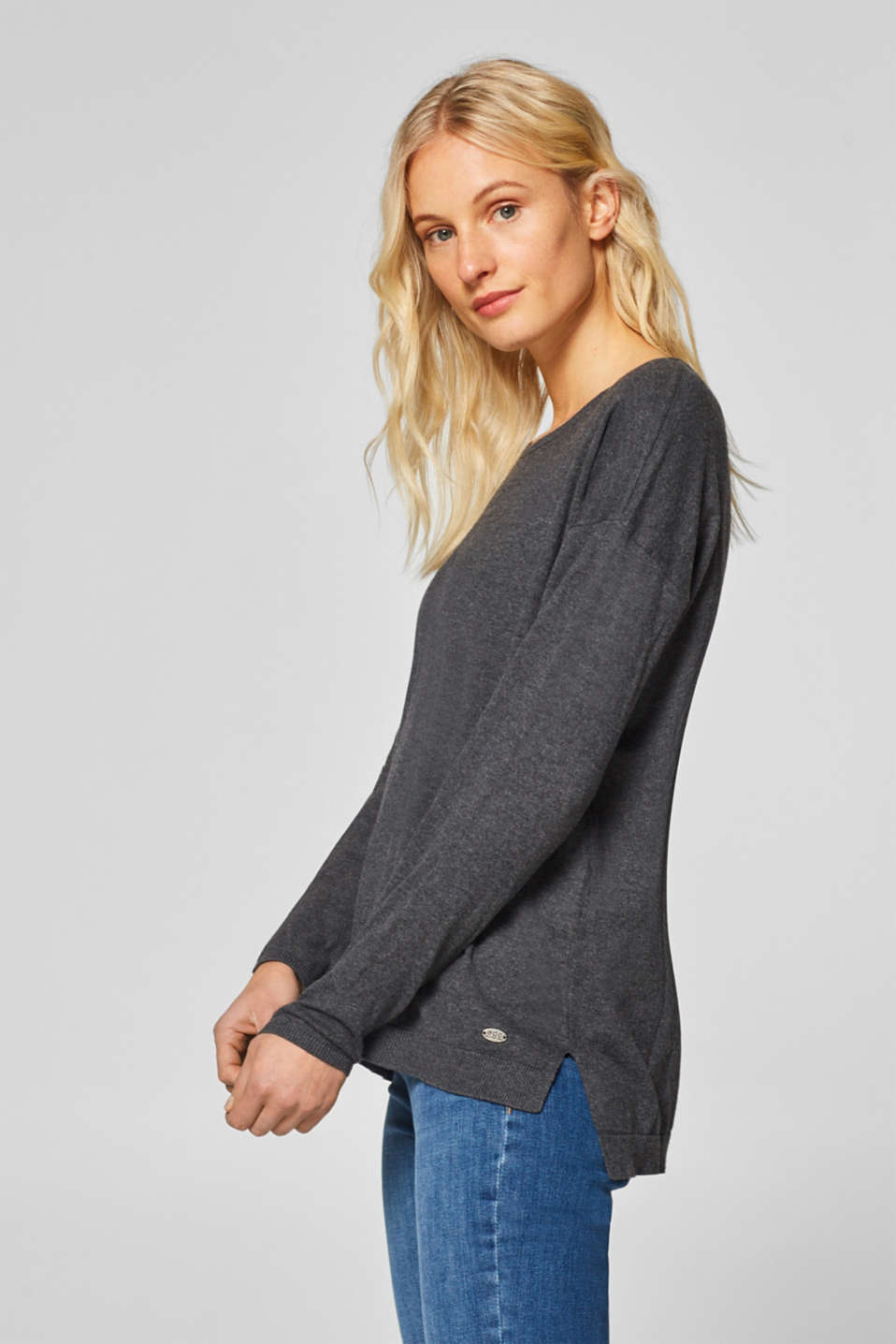 edc - Casual crewneck jumper with organic cotton
