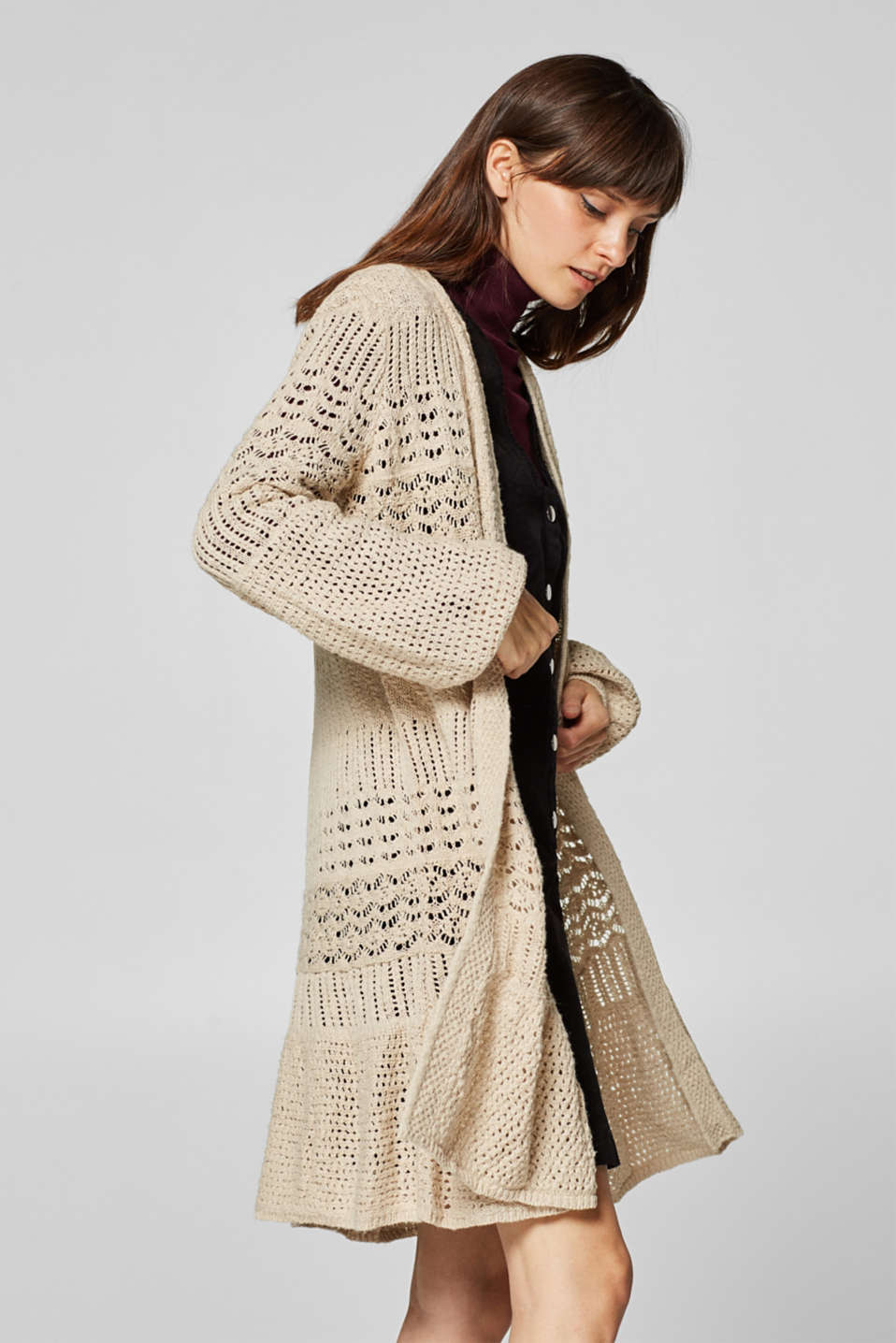 edc - Long openwork cardigan in 100% cotton