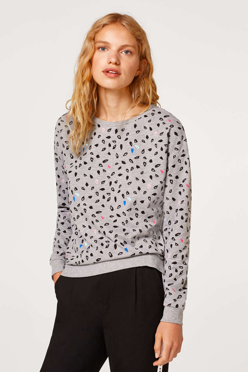 edc - Sweatshirt with a print and cotton