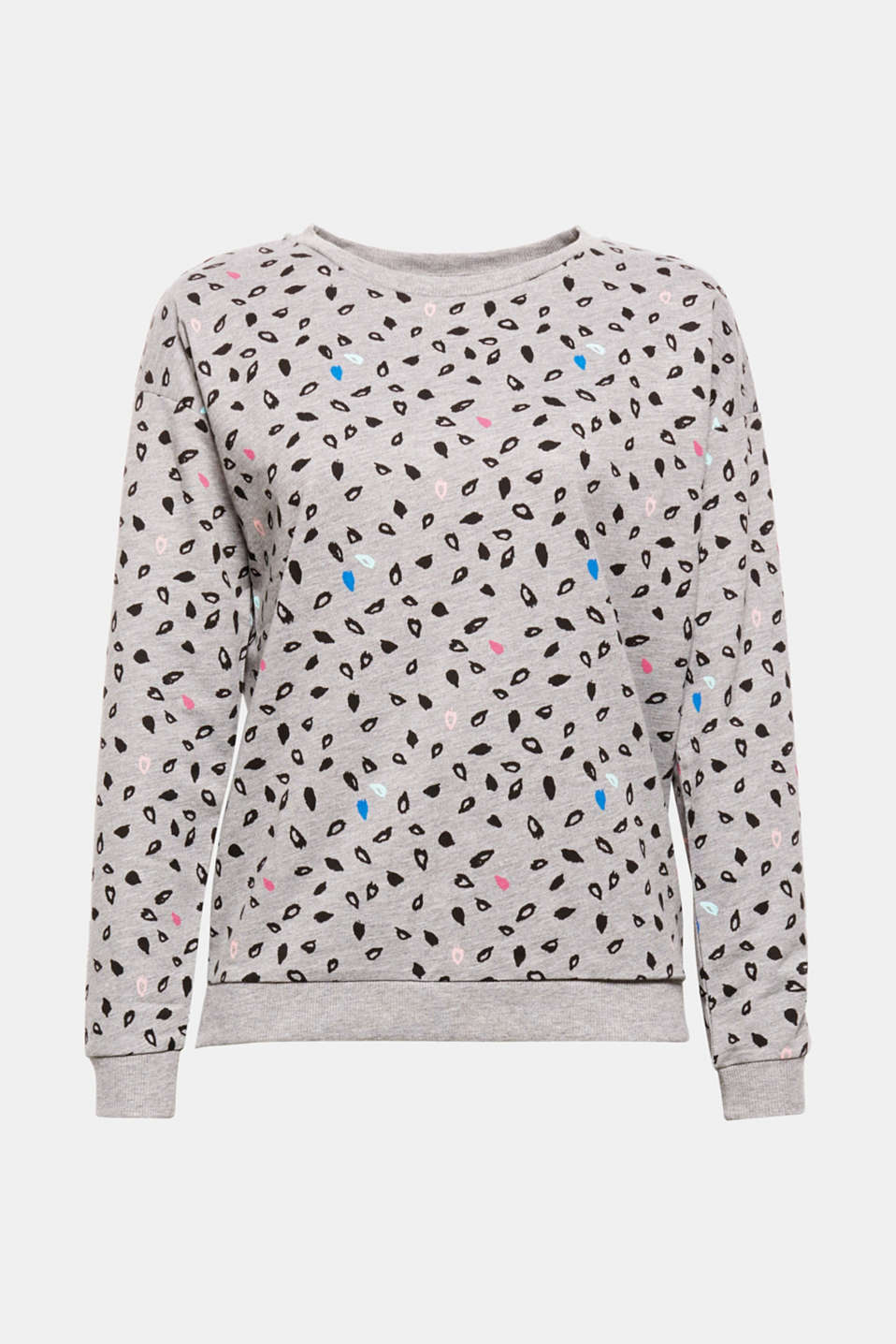 New animal print meets melange jersey - and becomes this loose sweatshirt with an 80s vibe!