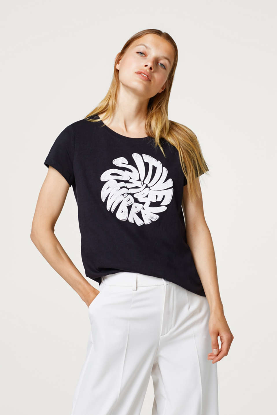 edc - T-shirt with a modern statement print
