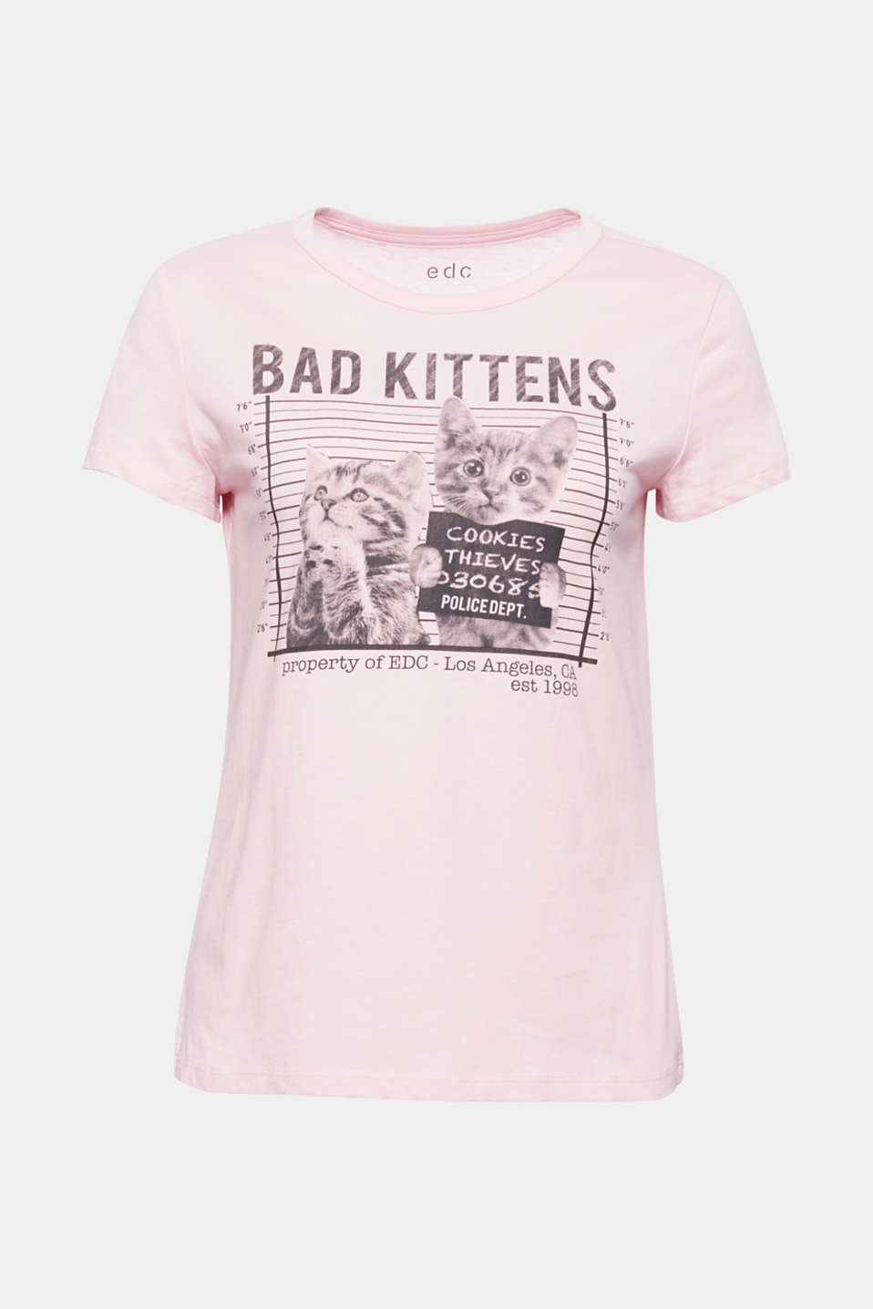 Visual treat for every day: soft cotton T-shirt with a super sweet kitten photo print!