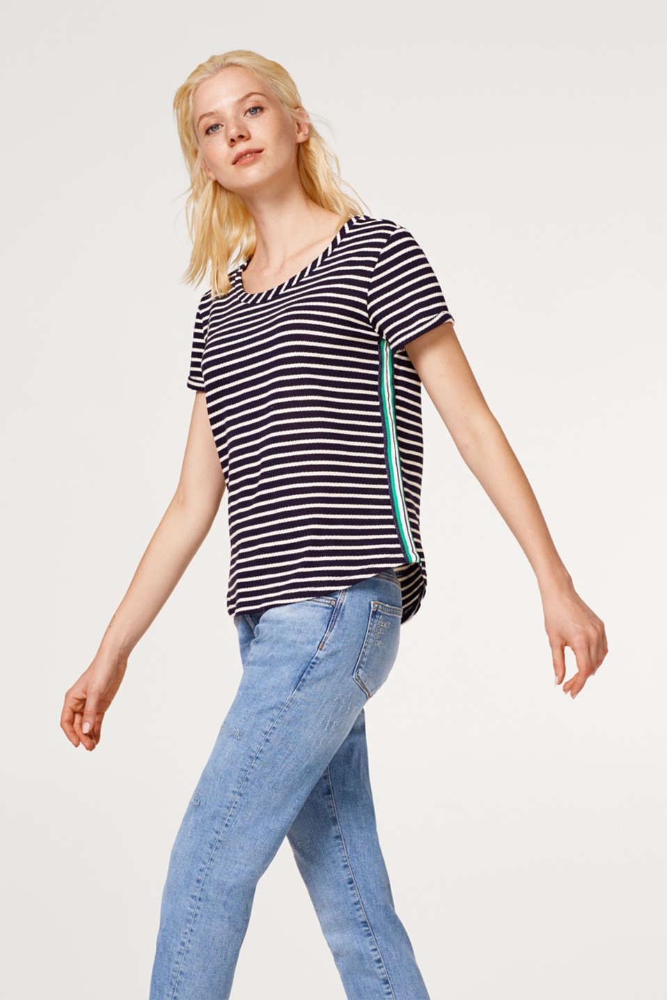 edc - Top with racing stripes, 100% cotton
