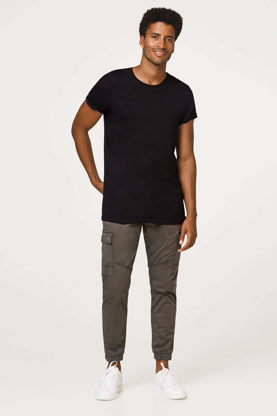 Cargo trousers in soft stretchy cotton