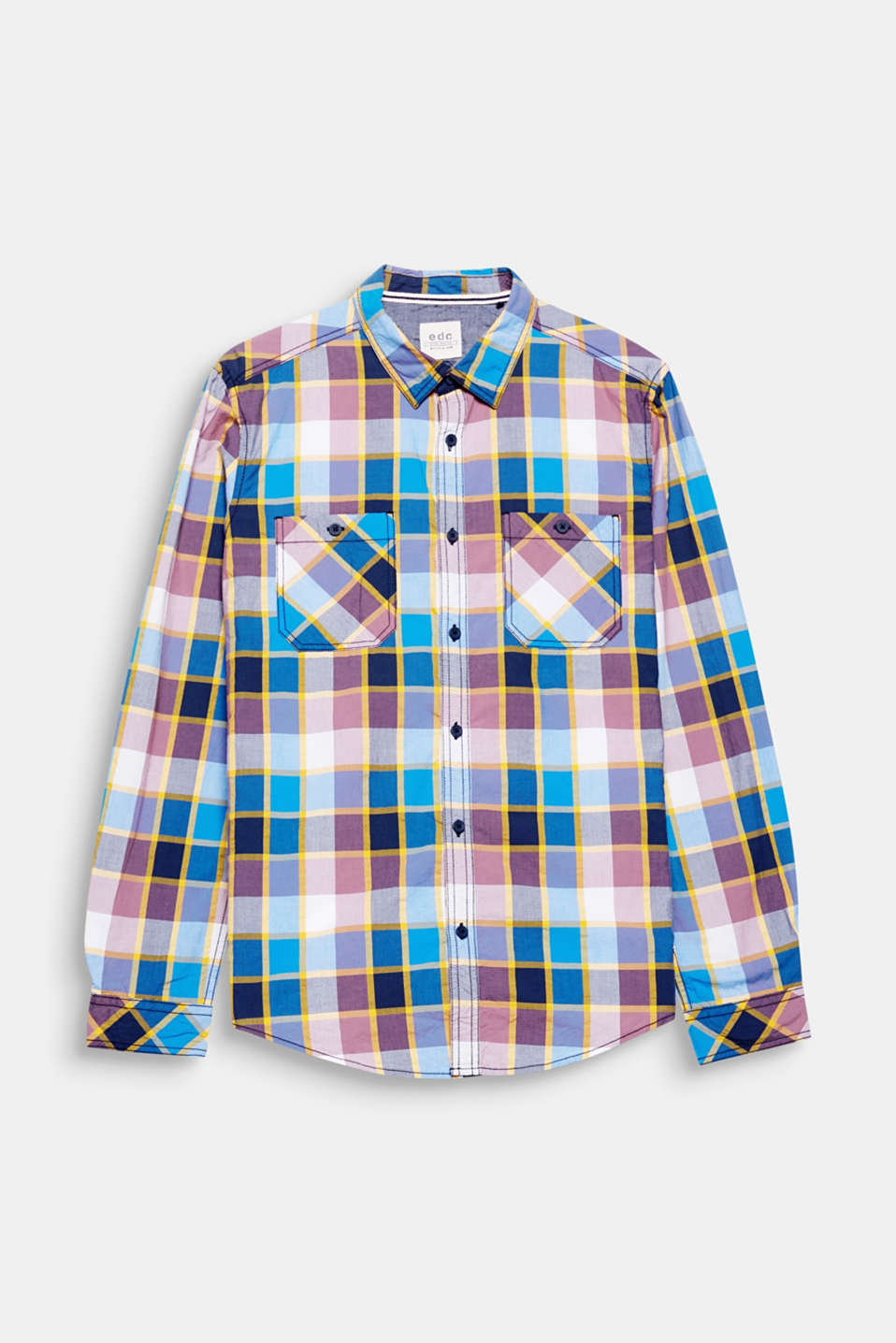 The distinctive, colourful check pattern gives this shirt an equally distinctive look.