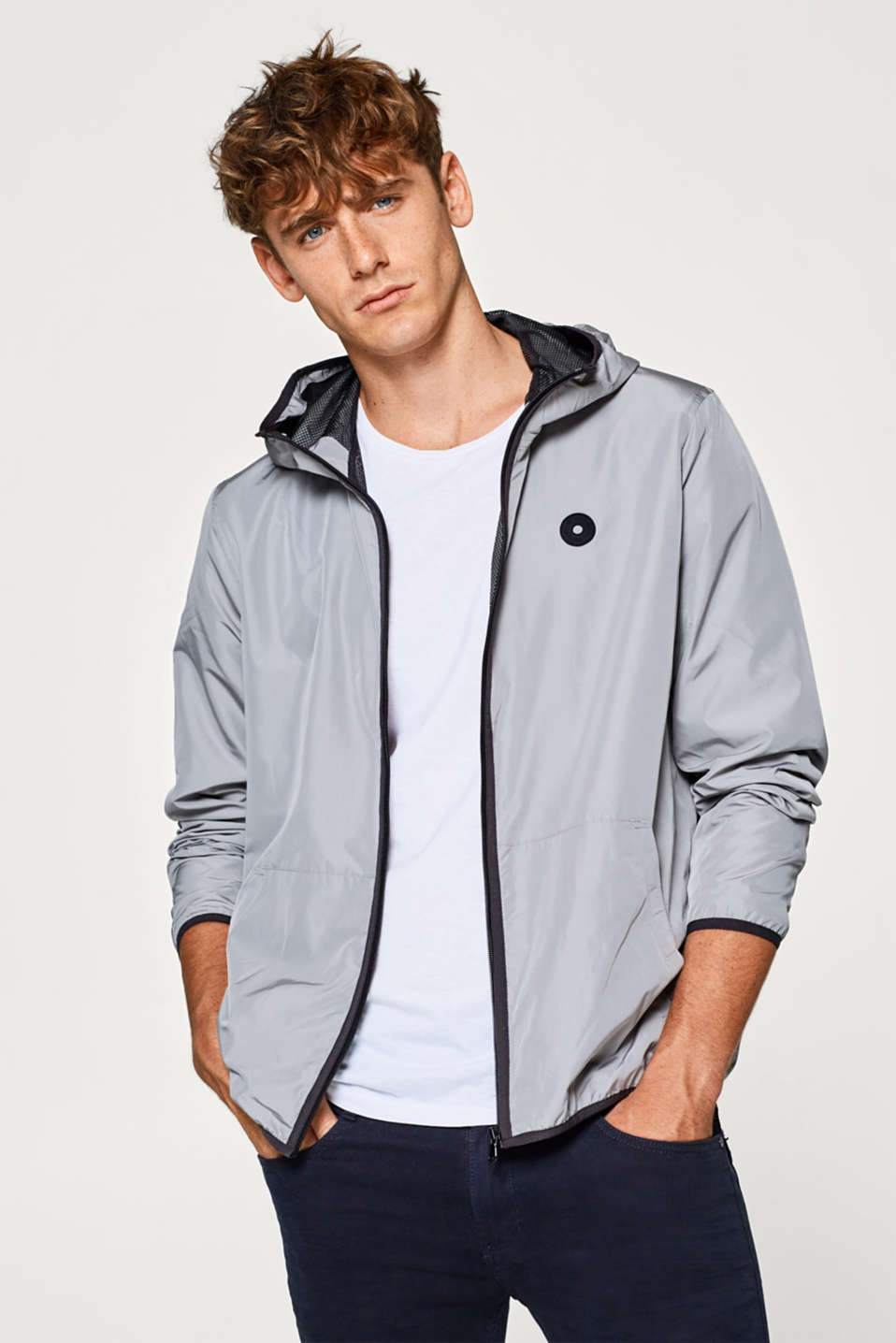 edc - Lightweight rain jacket with a hood