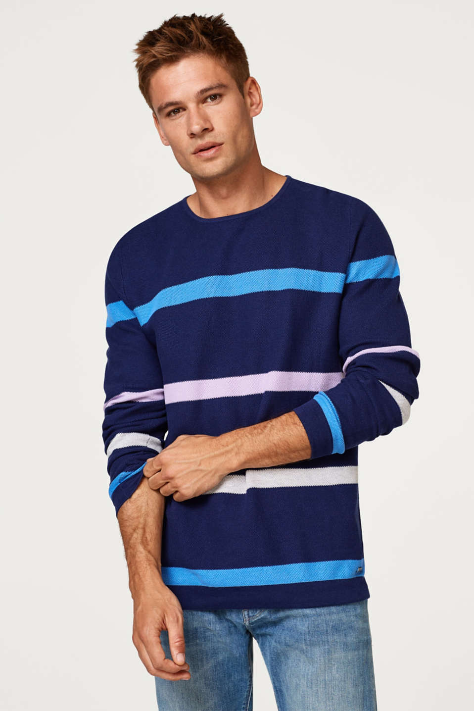 edc - Piqué jumper in 100% cotton
