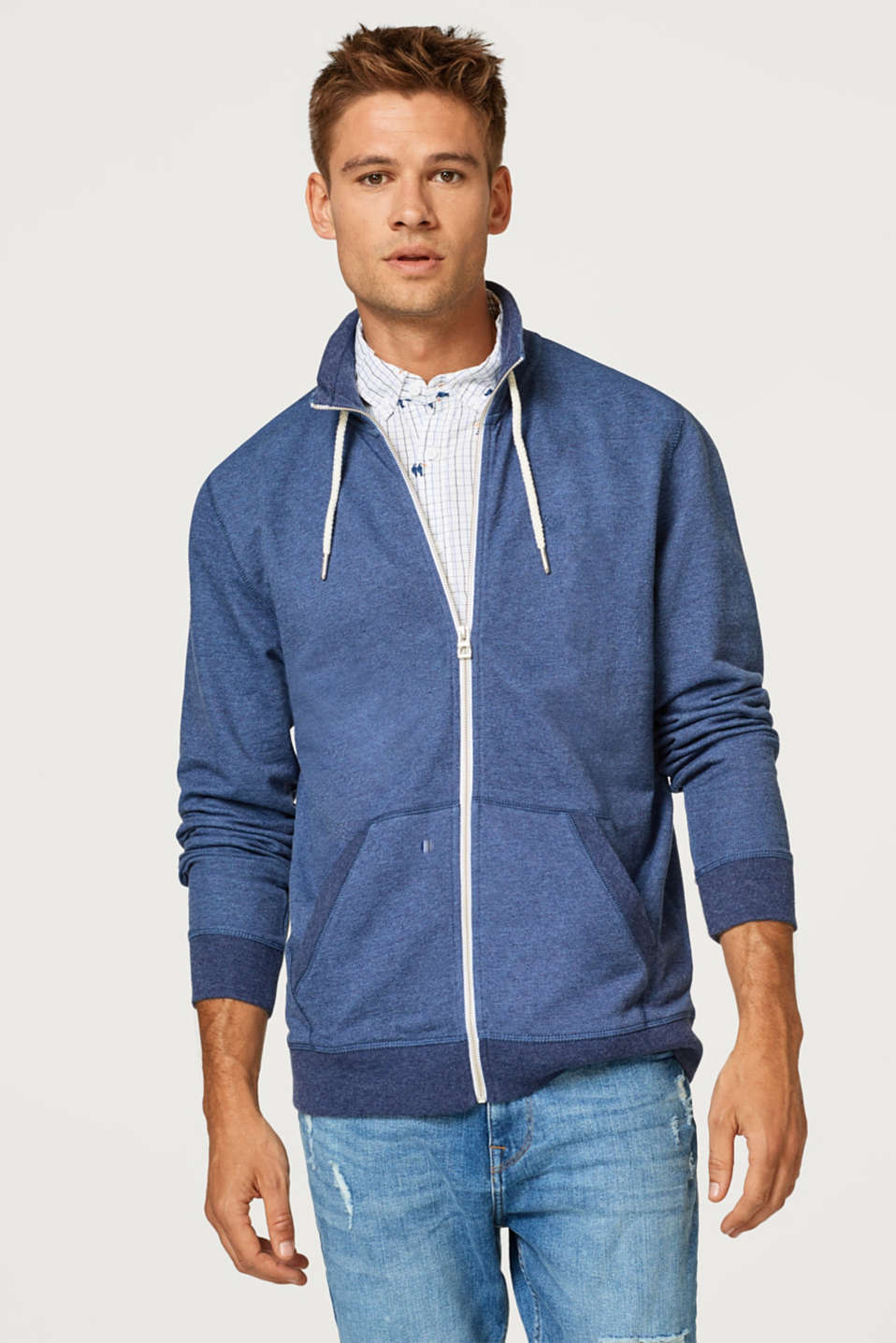 edc - Cotton blend sweatshirt cardigan
