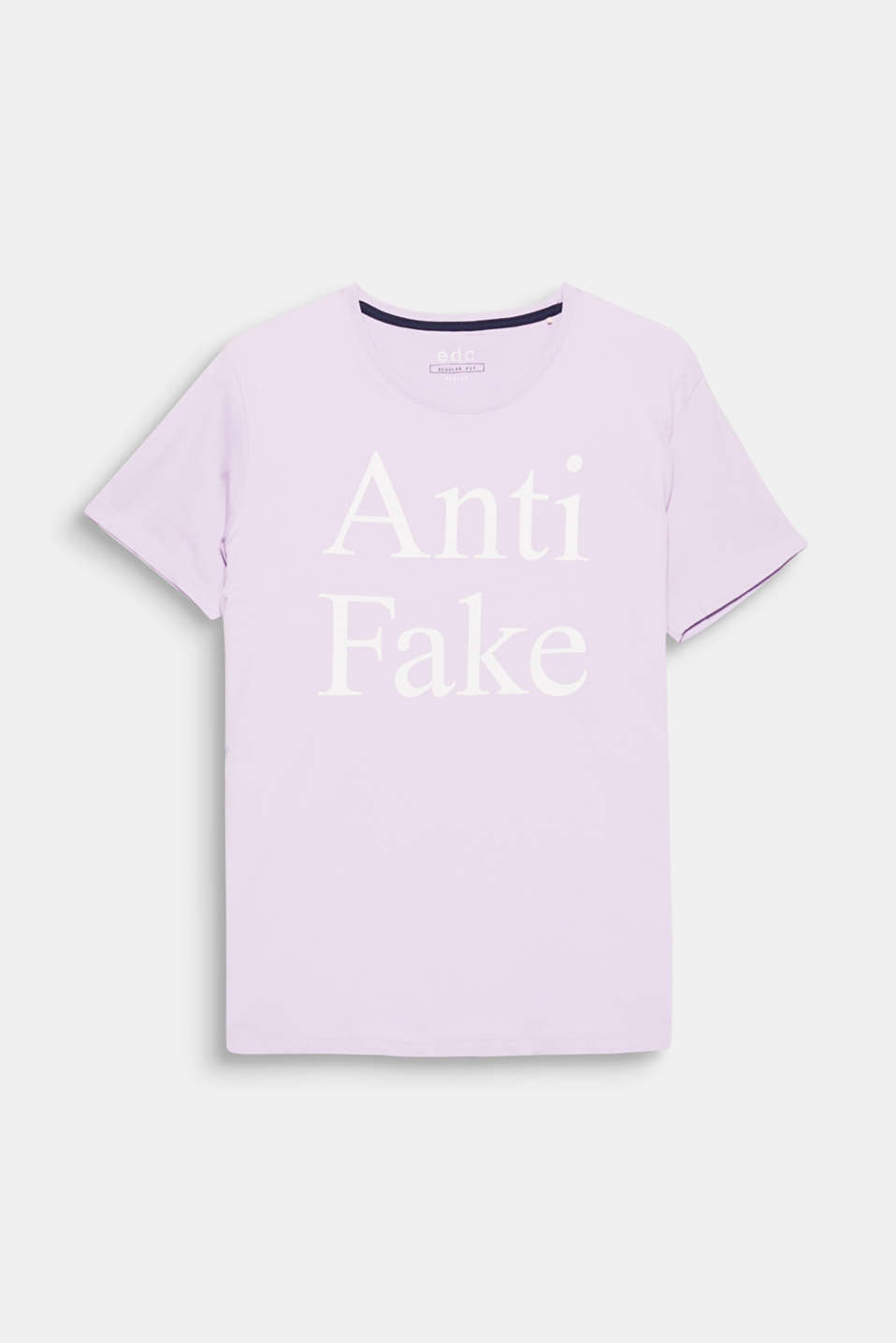 Anti-fake! A print, an ironic statement?! The distinctive lettering makes this T-shirt a unique style.