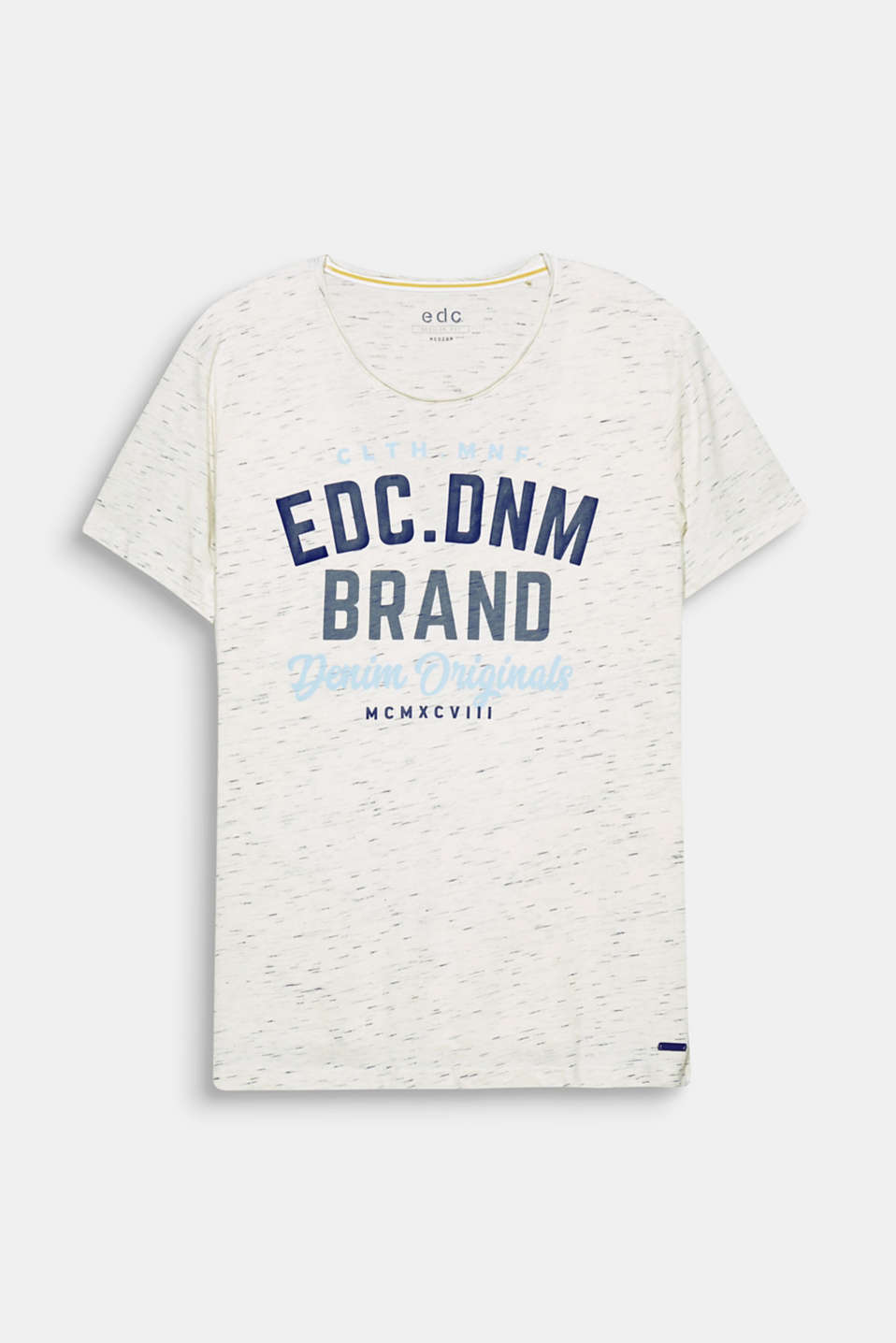 edc, your denim brand! A distinctive print gives this blended cotton t-shirt its statement flair.