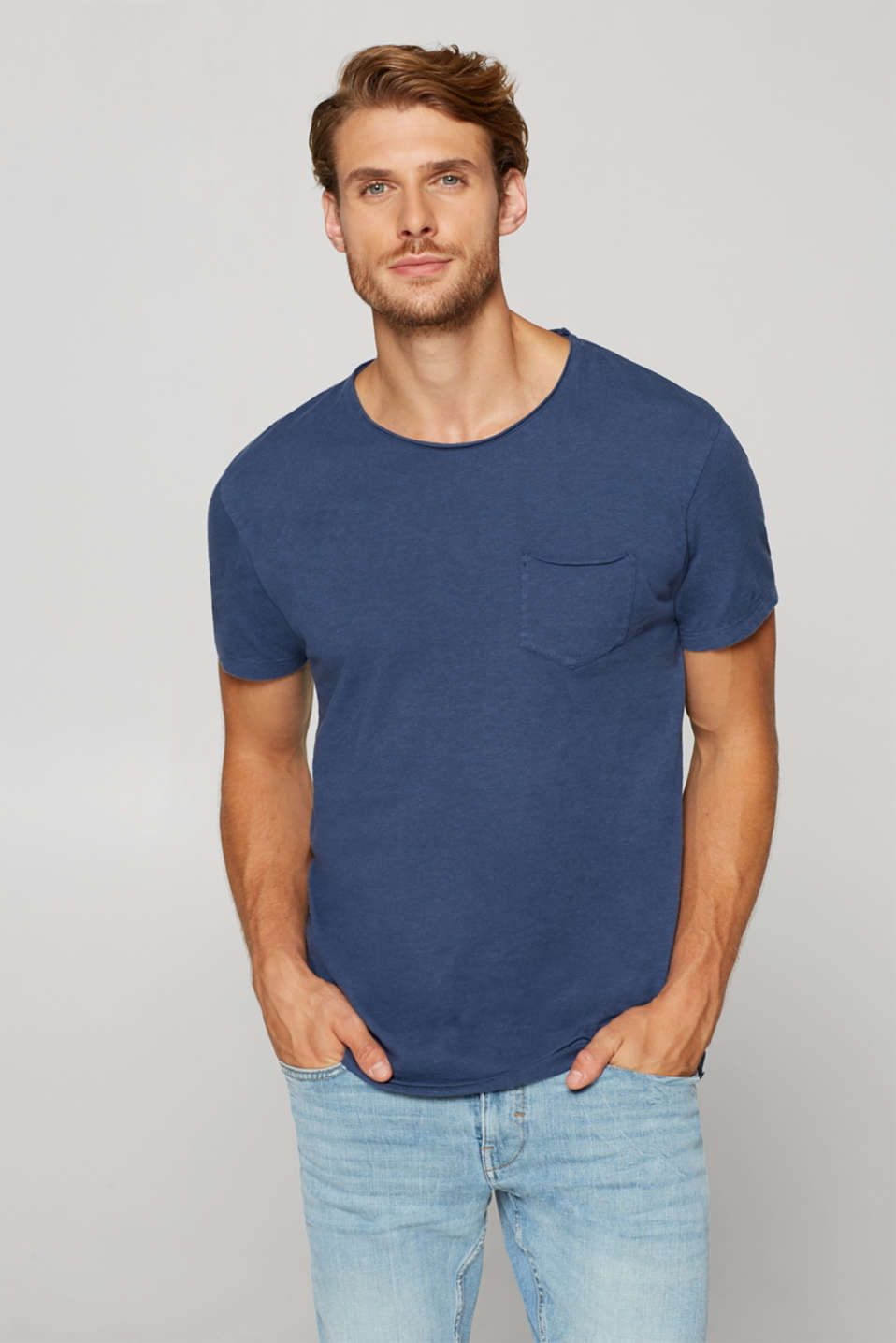edc - Jersey T-shirt with a breast pocket. 100% cotton