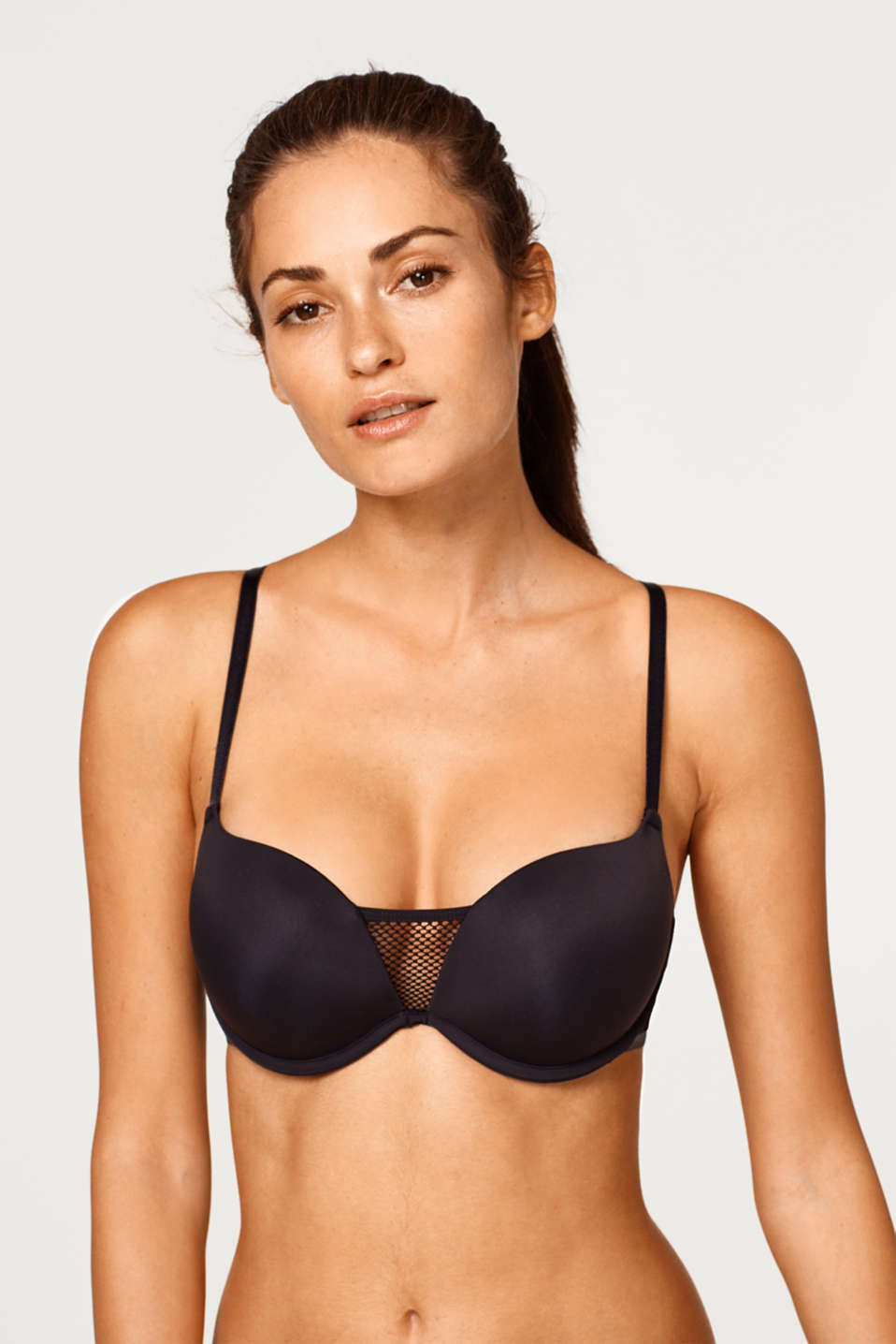 edc - Push-up bra with mesh and cross-over straps