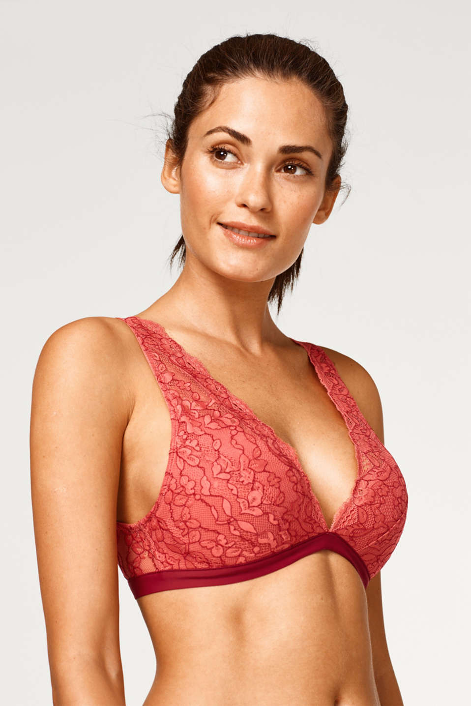 edc - Wireless bra in two-tone lace