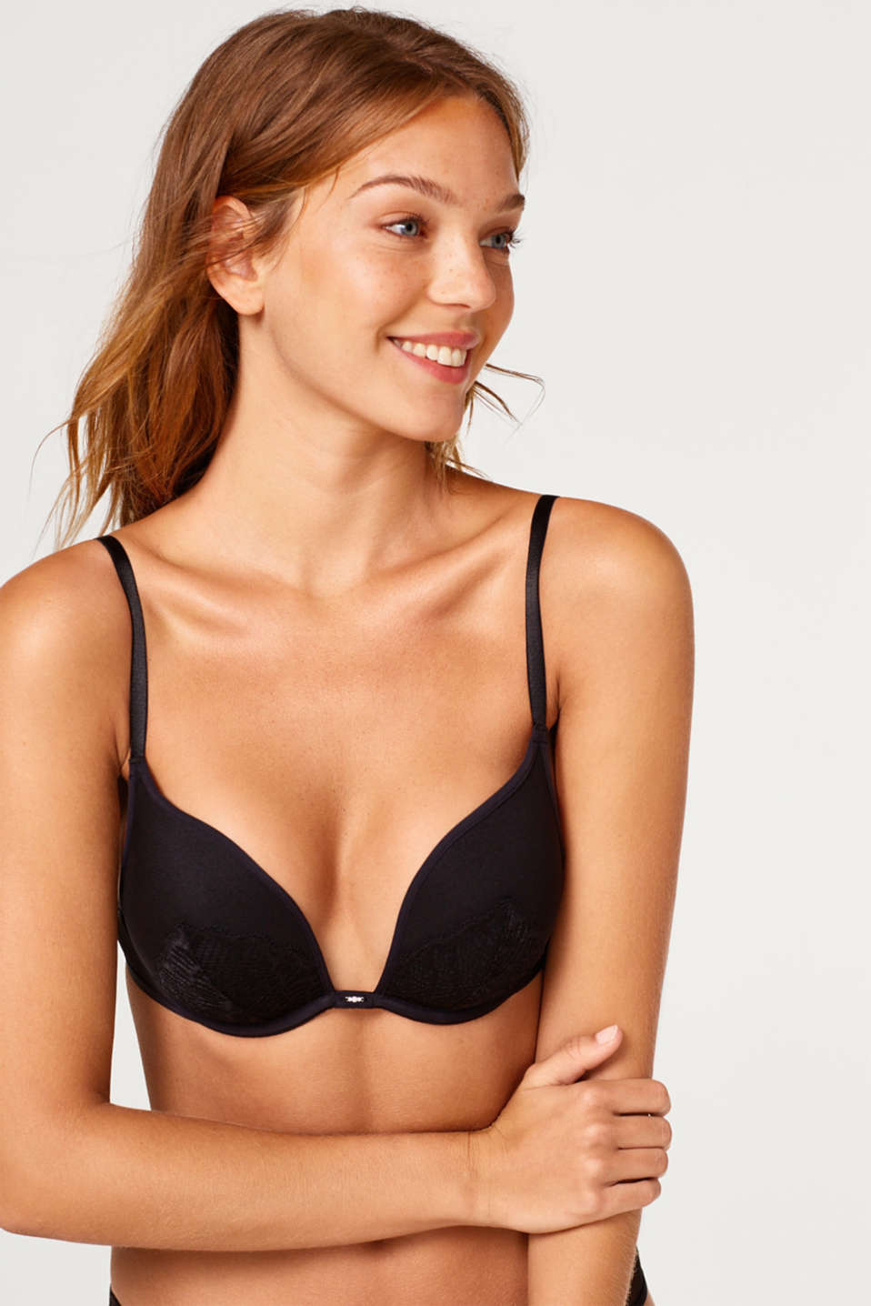 edc - Push-up bra made of mesh with lace