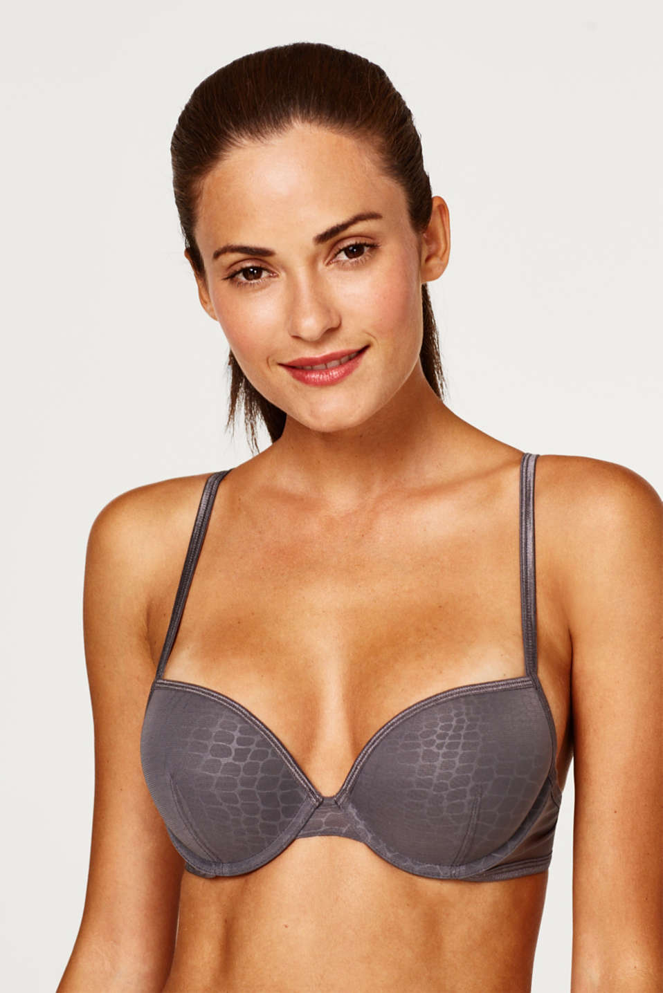 edc - Push-up bra in a reptile look