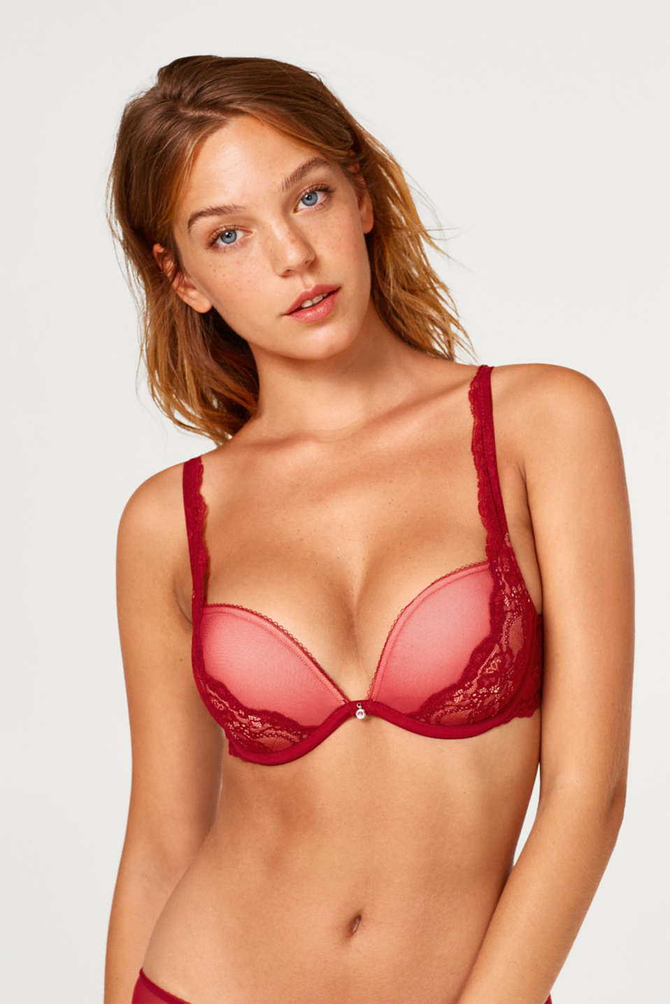 edc - Mesh + lace push-up bra