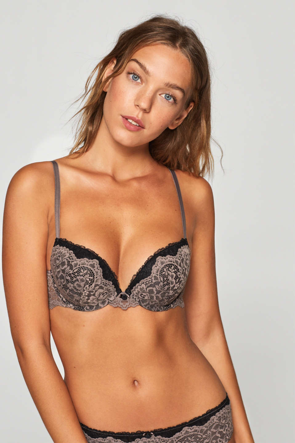 edc - Push-up bra in floral lace