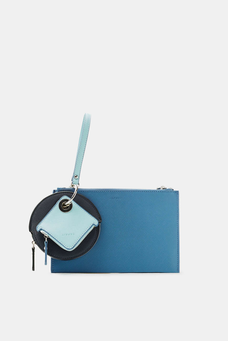 Esprit - Clutch in faux leather with pendant bags