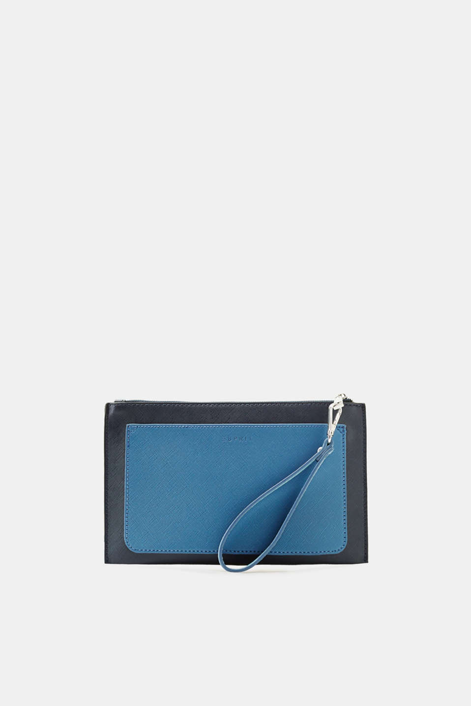 Esprit - Clutch in textured faux leather