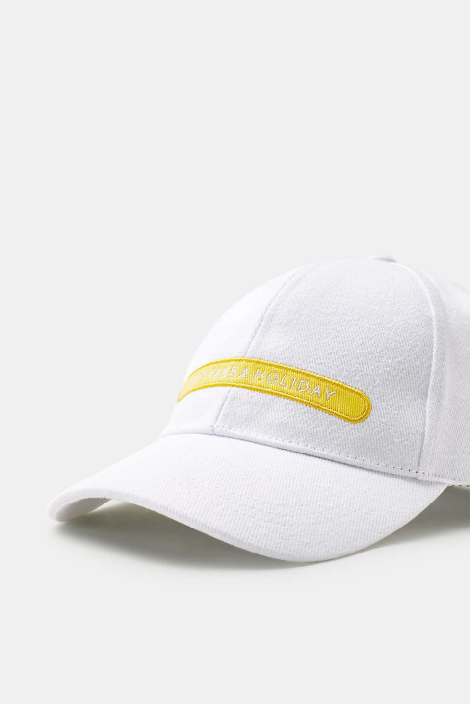Statement embroidery baseball cap, 100% cotton