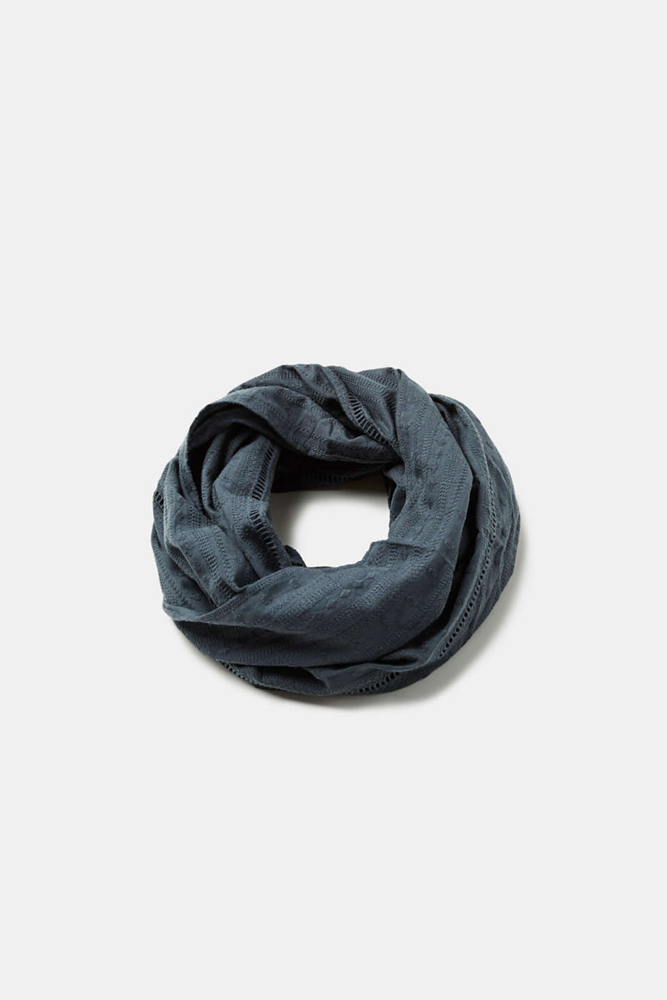 Esprit - Embroidered snood in 100% cotton