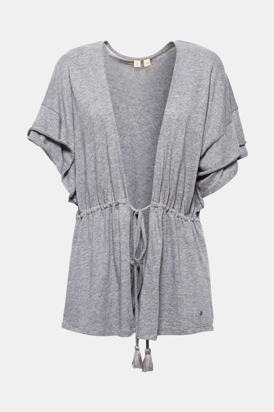 Esprit - Jersey poncho with layered sleeves