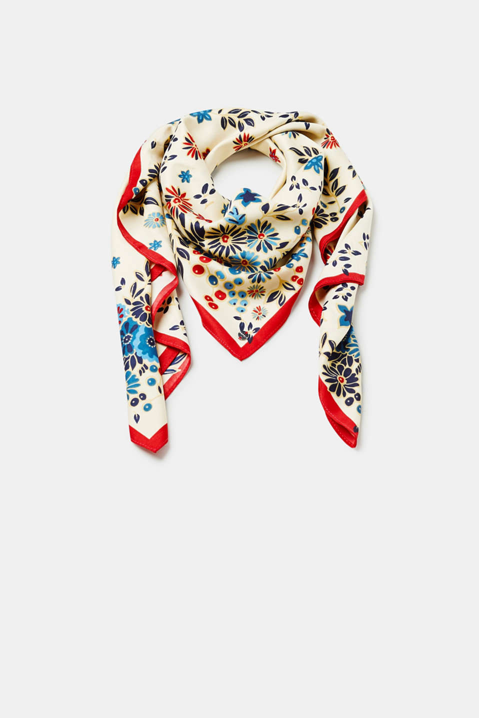 Esprit - Scarf with a floral print