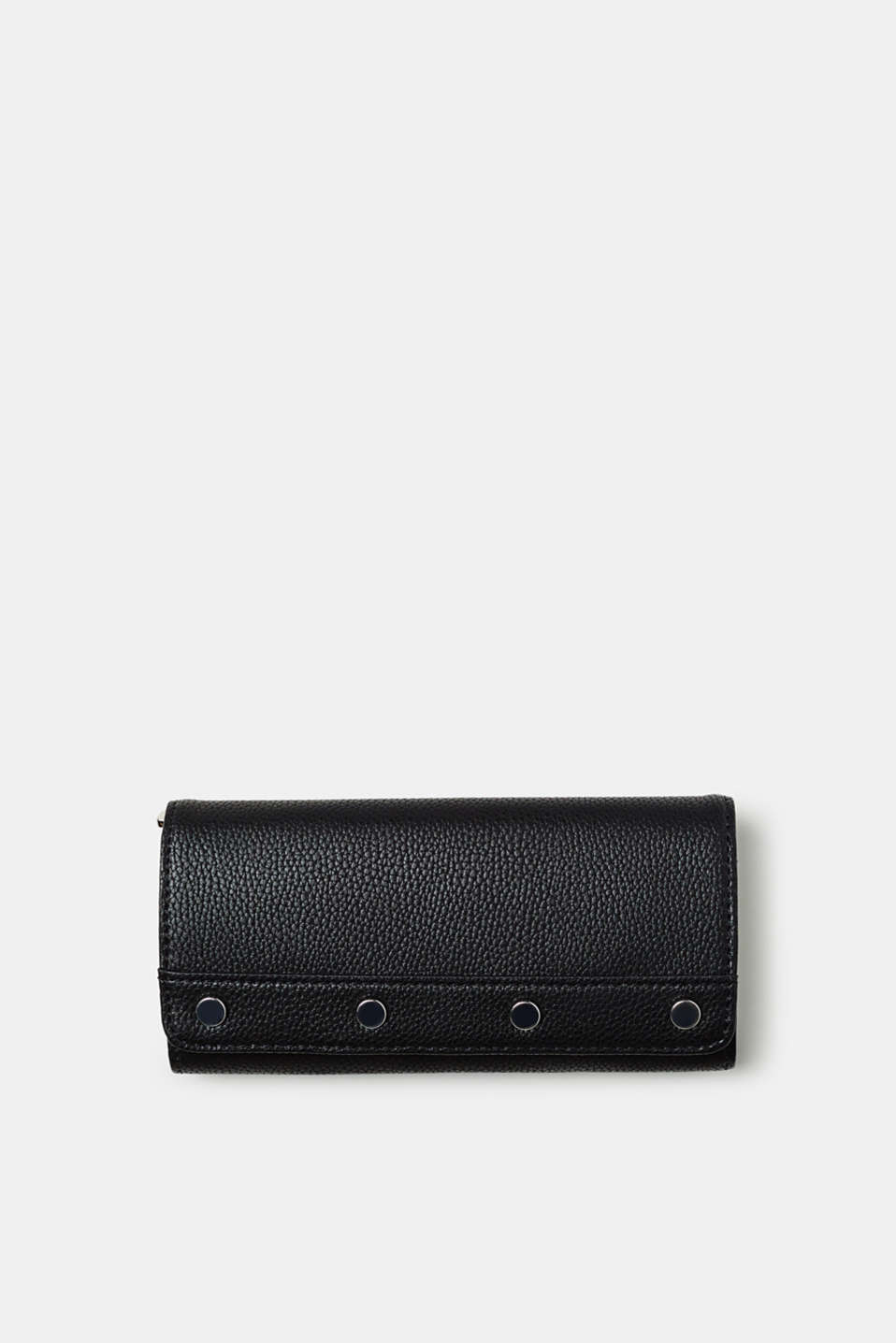 Esprit - Wallet with decorative studs, in faux leather