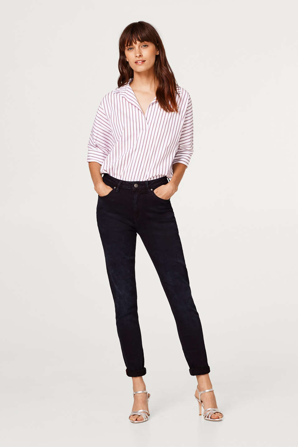 Esprit - Stretch jeans with a high waistband