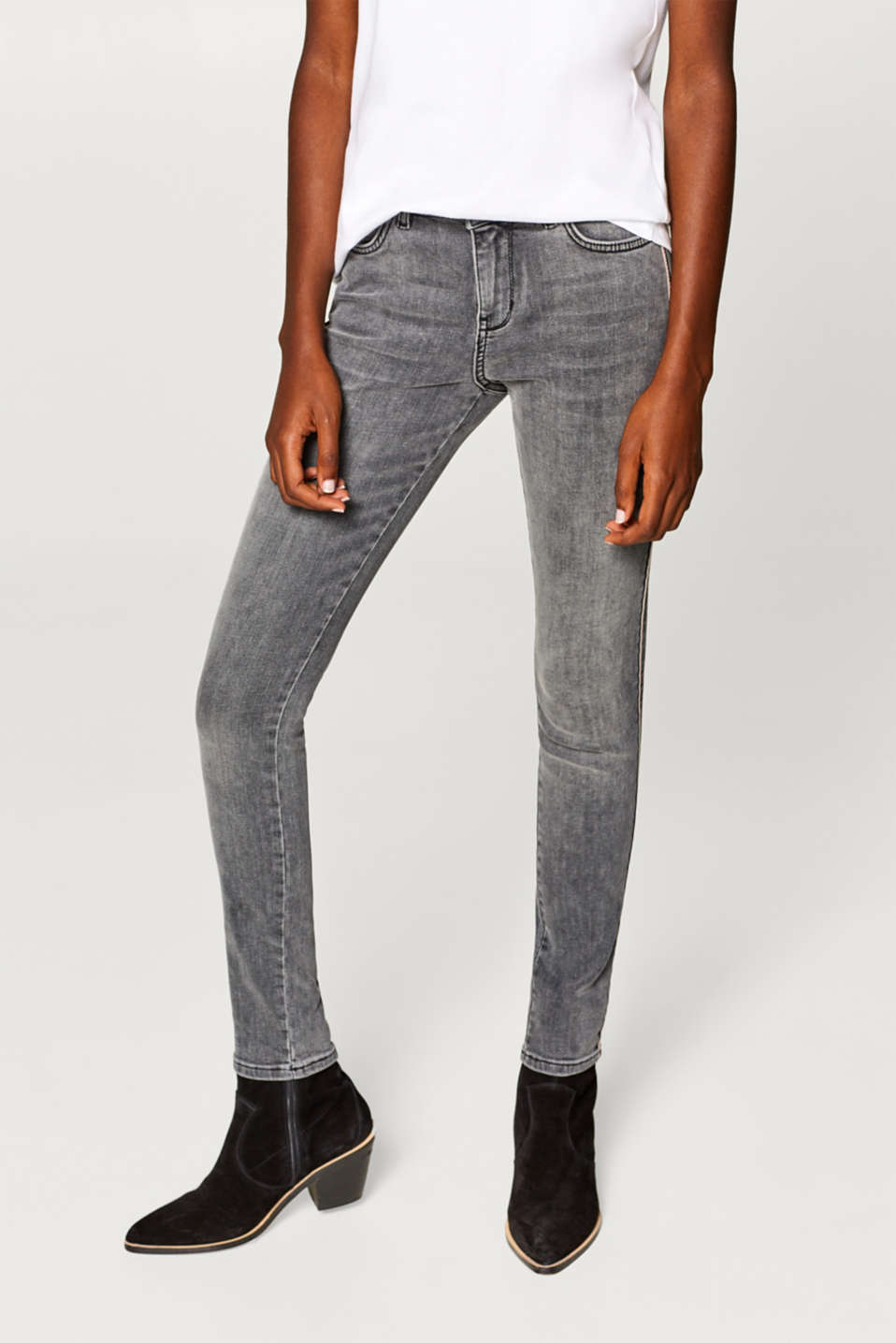 Esprit - Stretch jeans with piping