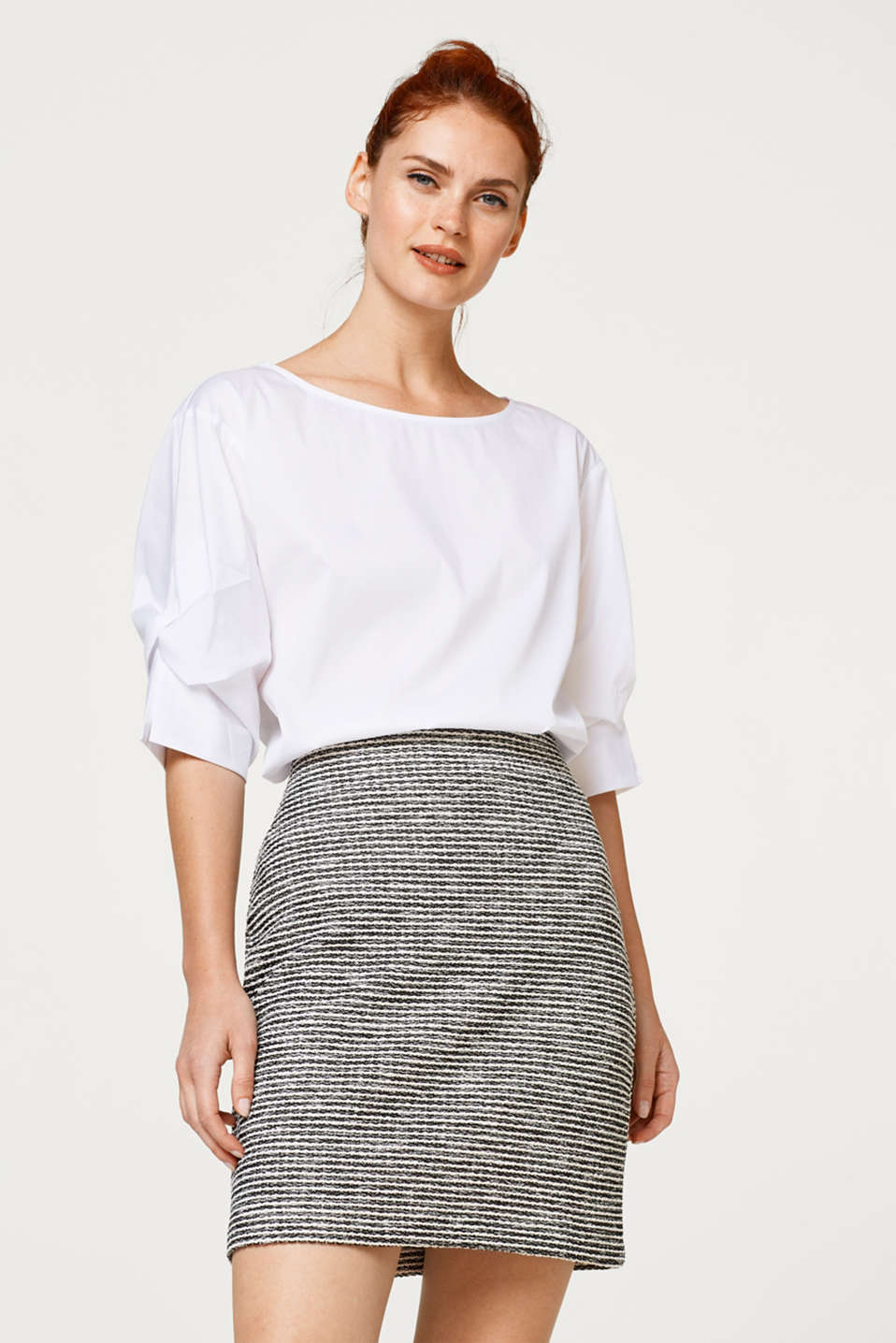 Esprit - Pencil skirt in textured jersey