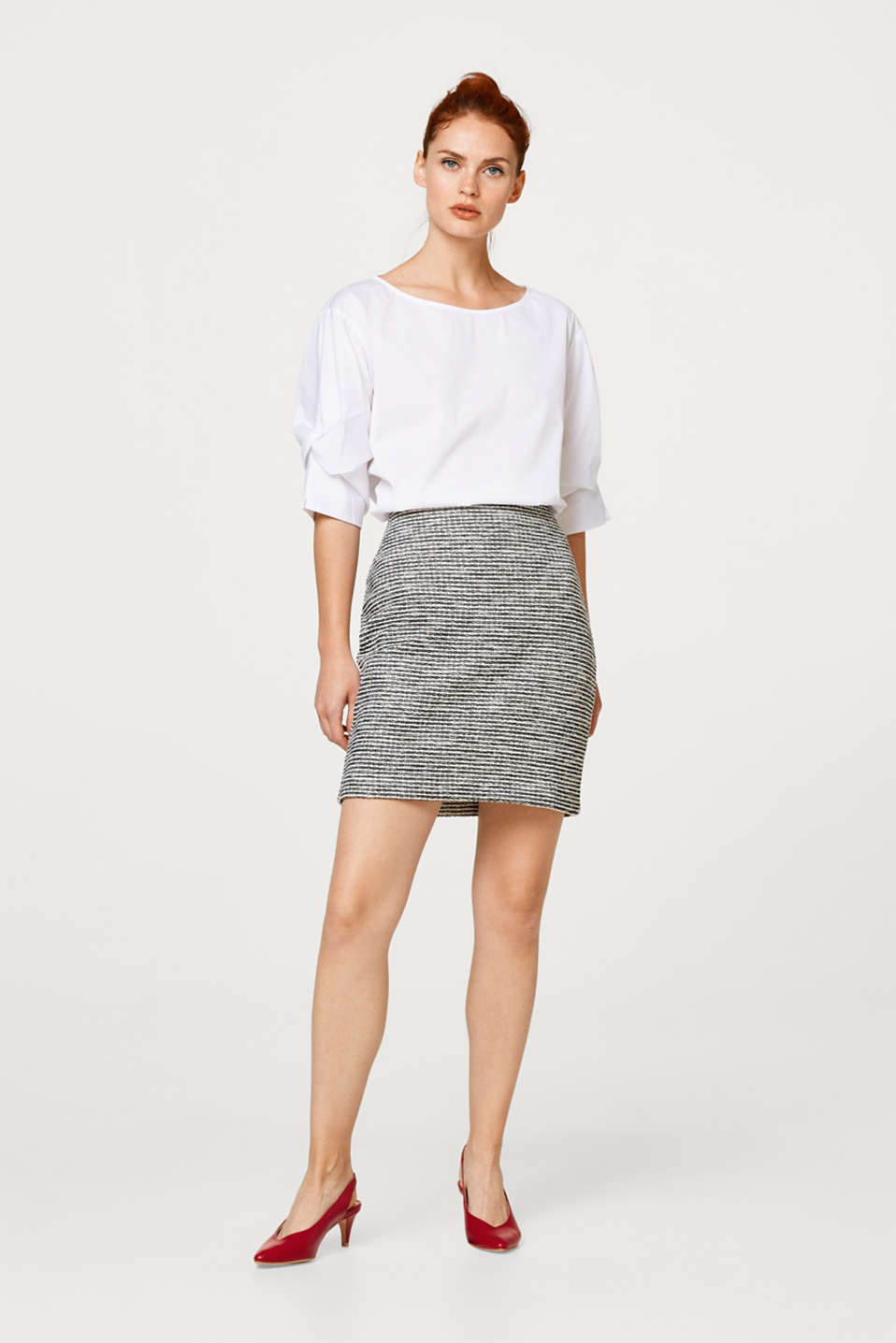 Pencil skirt in textured jersey